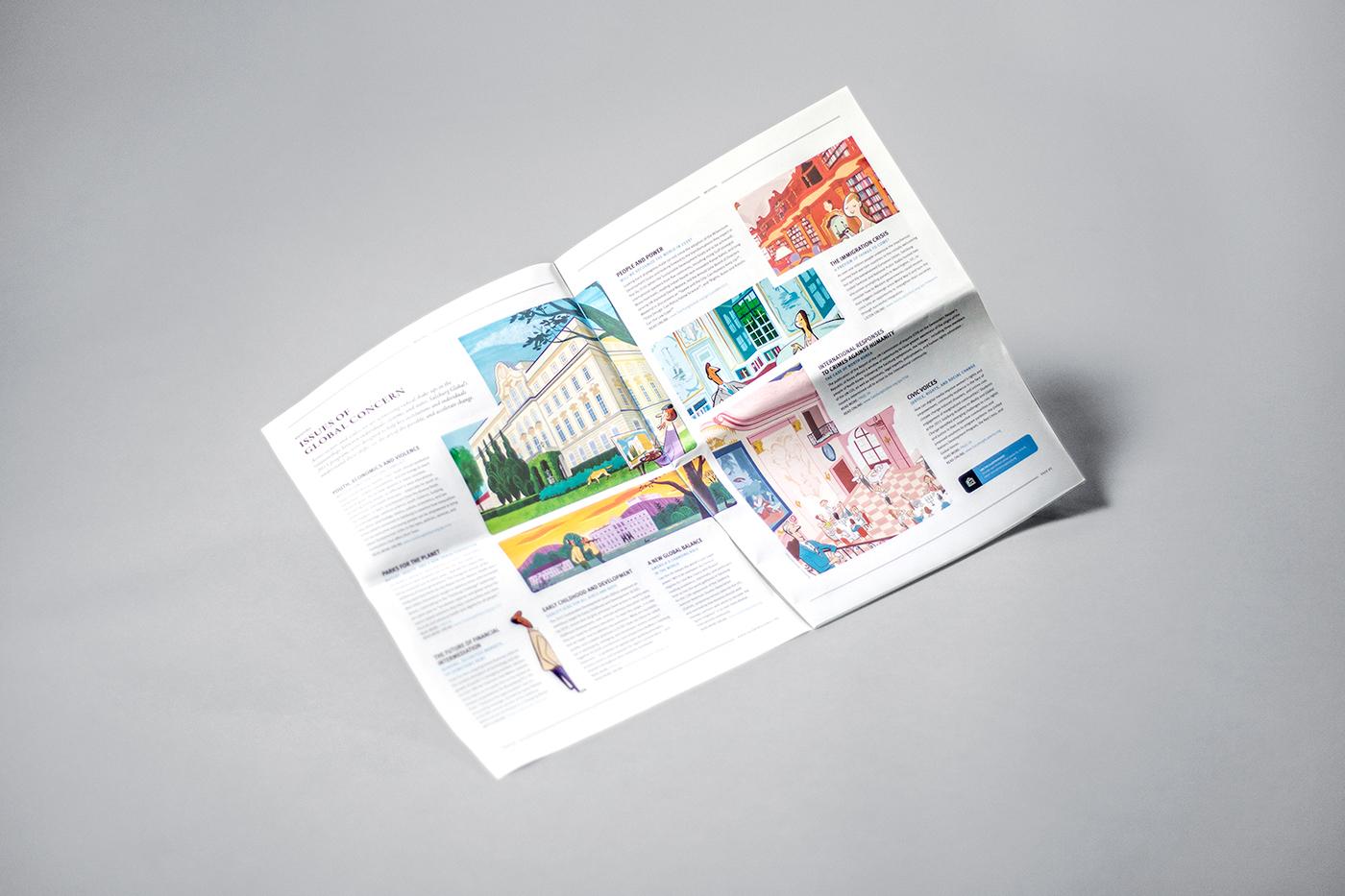 newspaper editorial design  organization annual report magazine Big Format