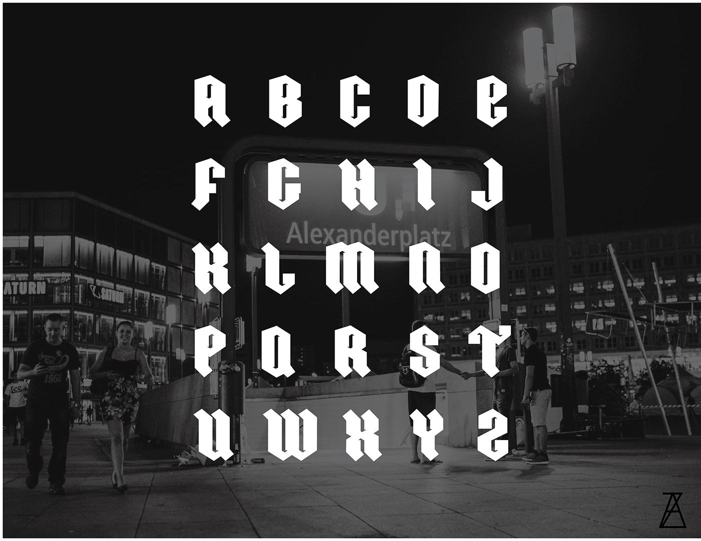 typo free font fraktura deutche german style german style font display font free display font Ordnung ordnung font przemyslaw zieba przemysław zięba typography design Free font