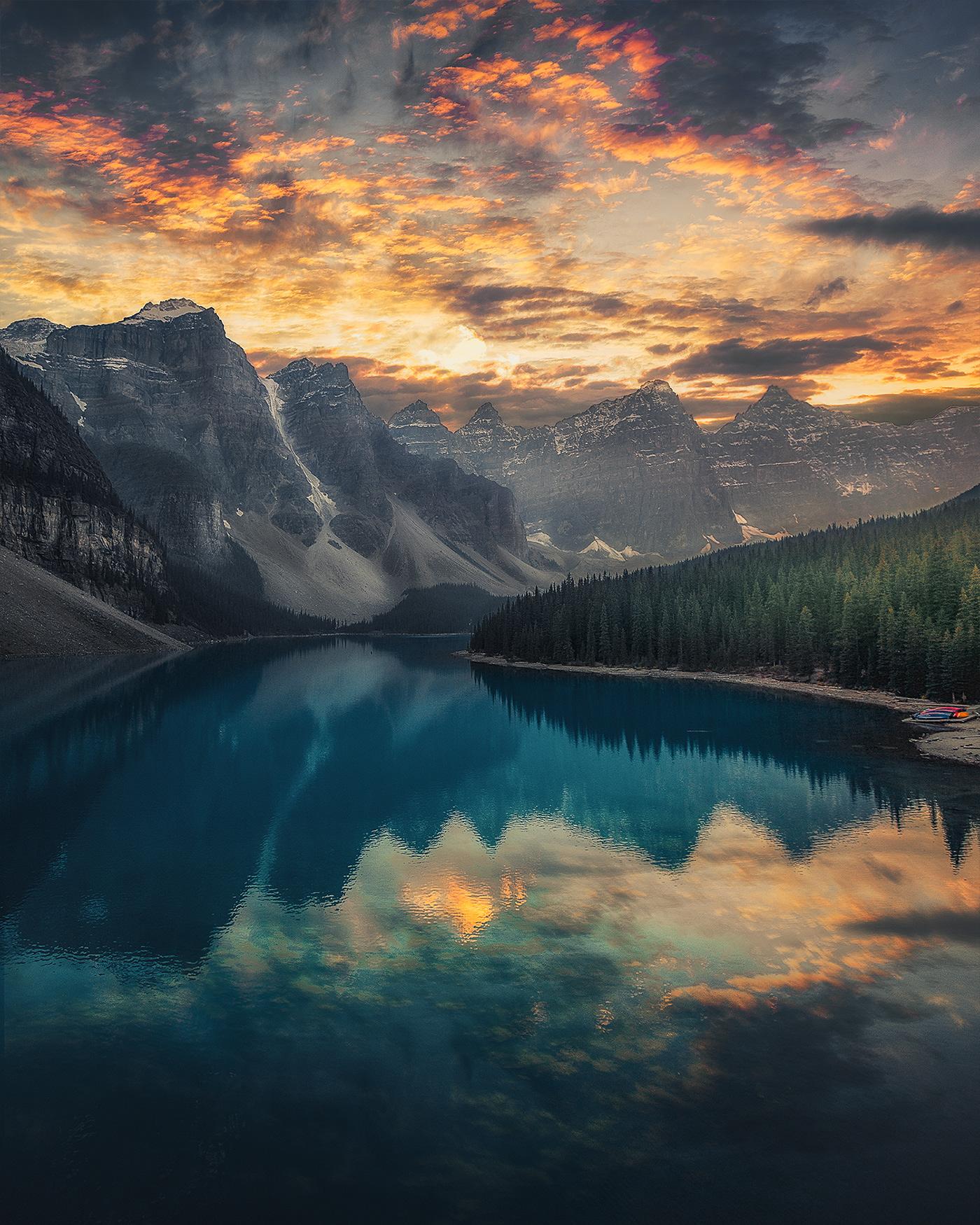 Image may contain: lake, sky and water