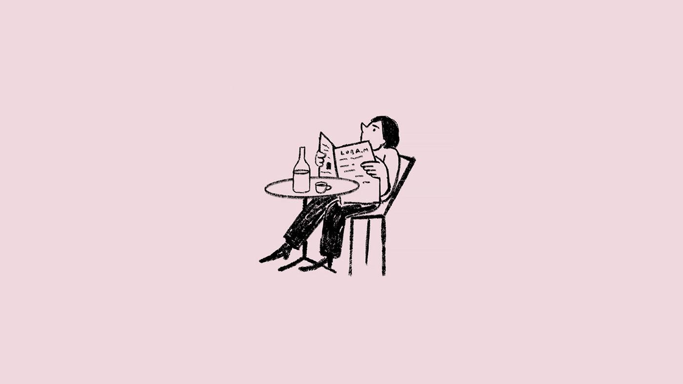 bar cafe design ILLUSTRATION  logo Logotype menu Procreate restaurant