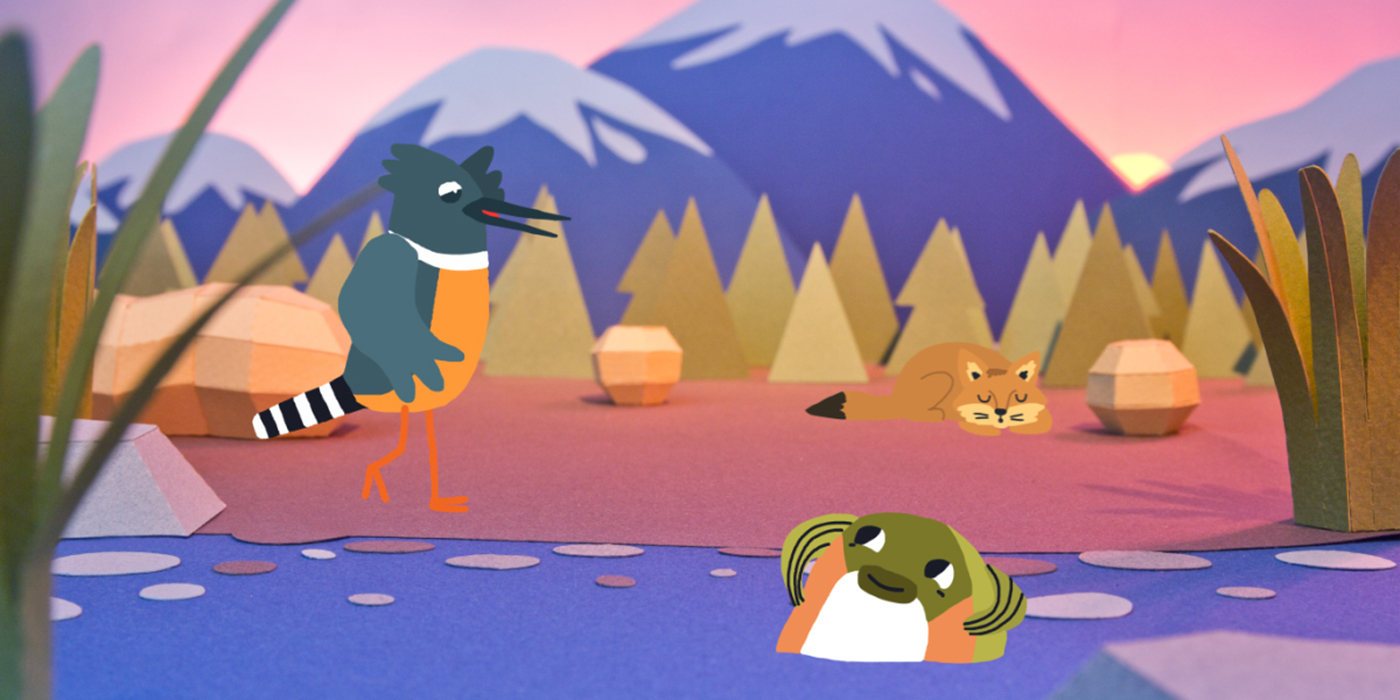ebook stop motion papercraft 2D animals cuentos del huequito animation  kids TALES traditionalanimation
