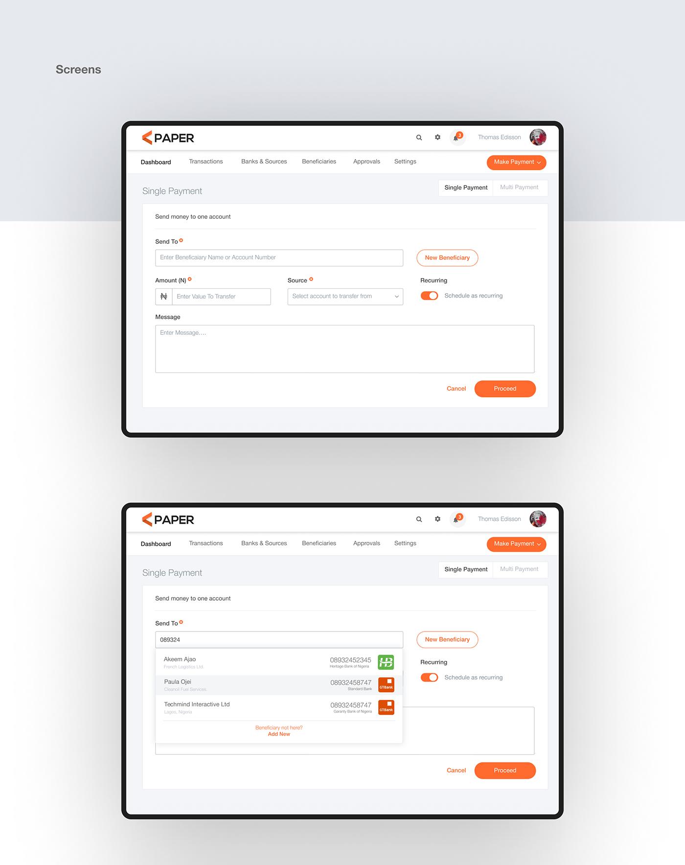 payment UI ux