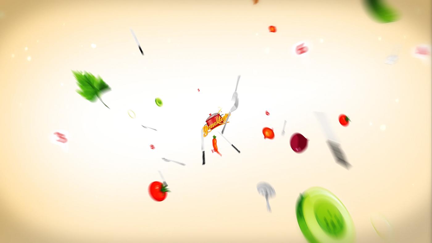 yemekteyiz Food  promo opener ID tv kanal d KENAN SUBASI motion graphic bumper