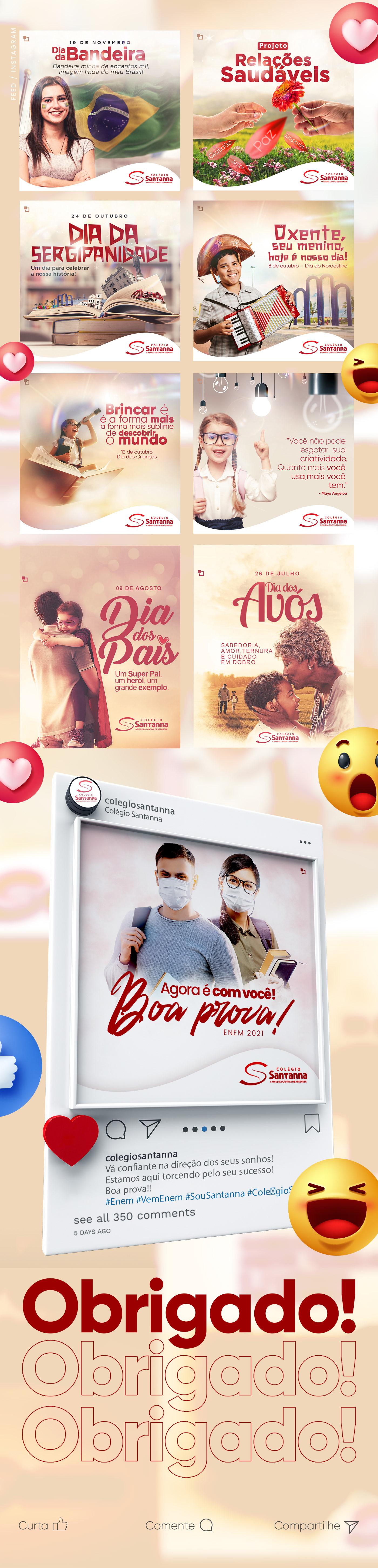 Colégio educação escola facebook instagram marketing digital photoshop rede social sergipe social media