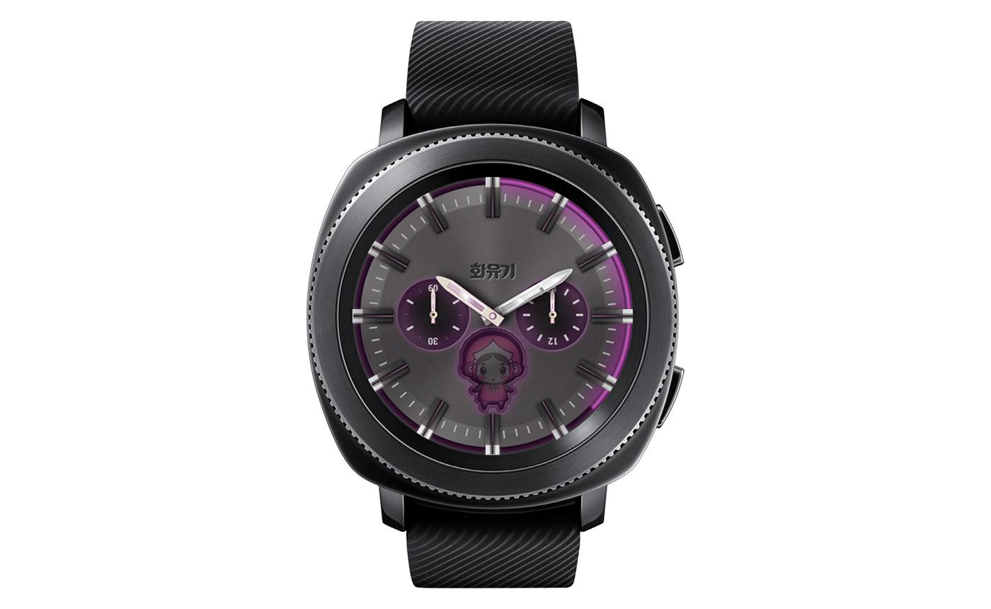 MRTIME watchface Smart watch ux UI portfolio Digital Contents Wearable Hwayugi