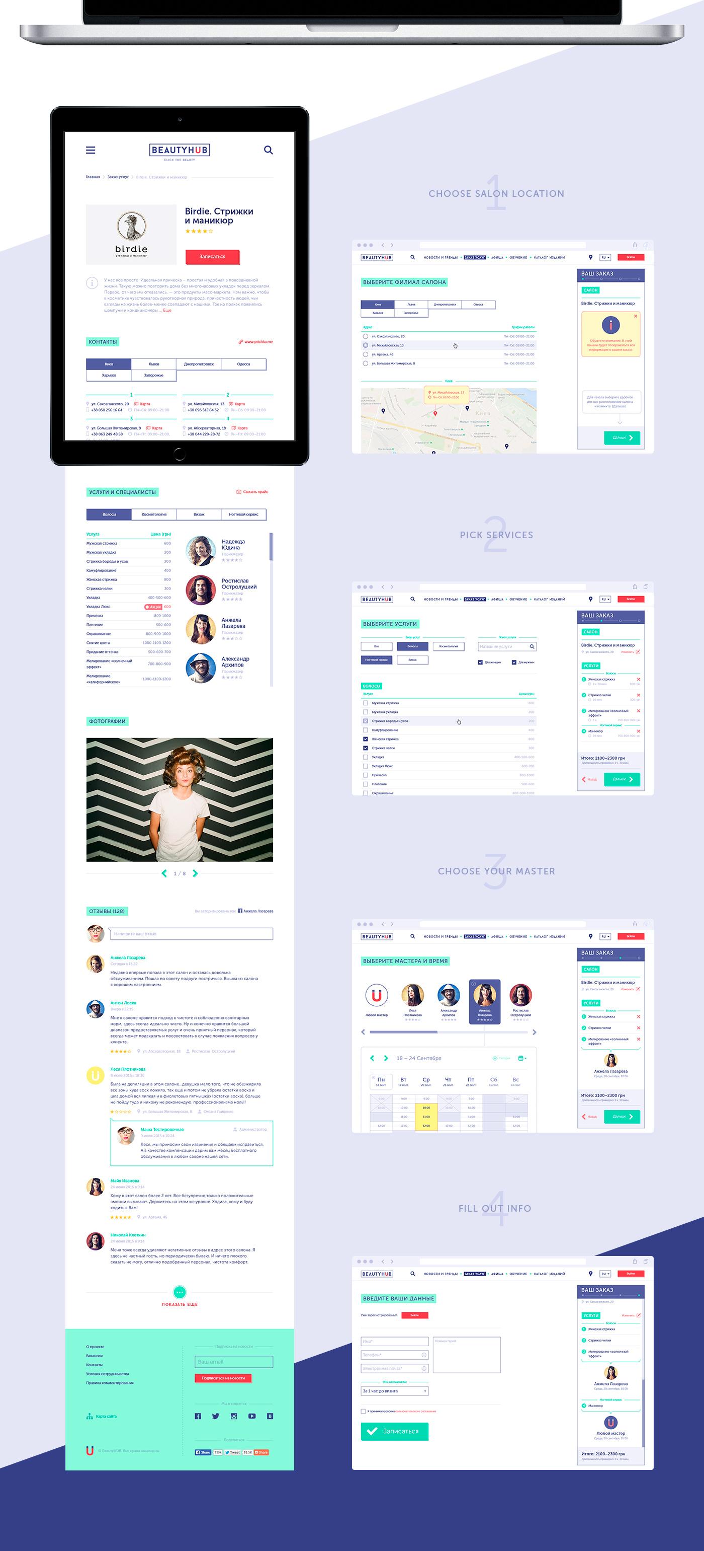 beauty beauty salon Booking service portal fashion site