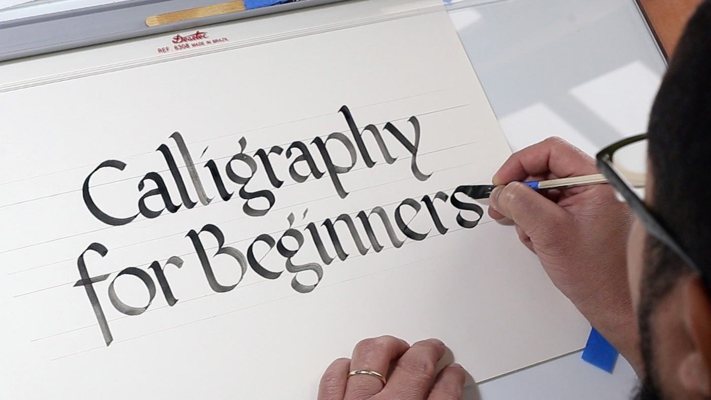 Calligraphy writing help