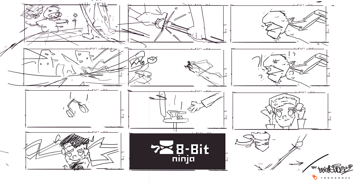 motion-graphics animation  2D Animation Frame-by-frame TVPaint ninja youtube vr