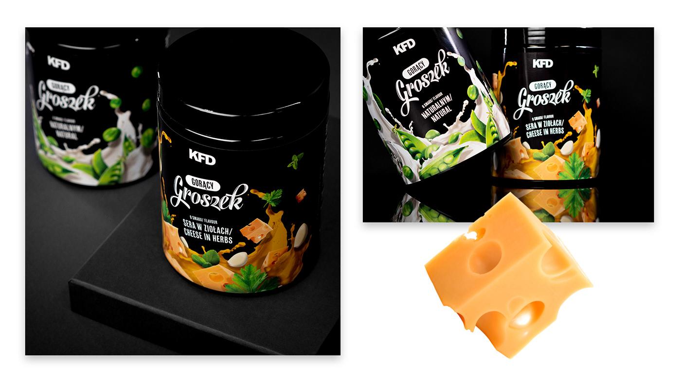 package Health protein Food  funcional Label peas nutrition delicious box