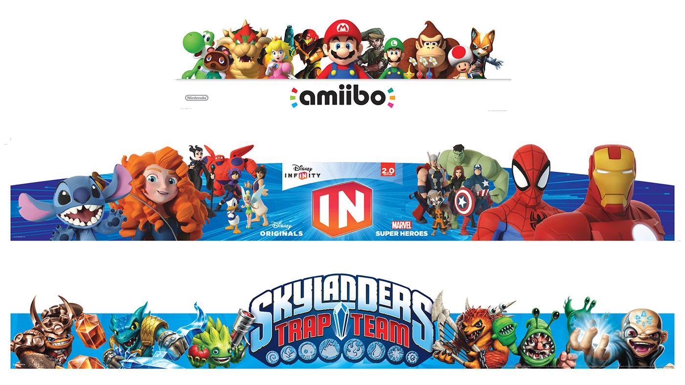 Nintendo ambiibo Electronics Video Games design art ILLUSTRATION  Store Graphics merchandising