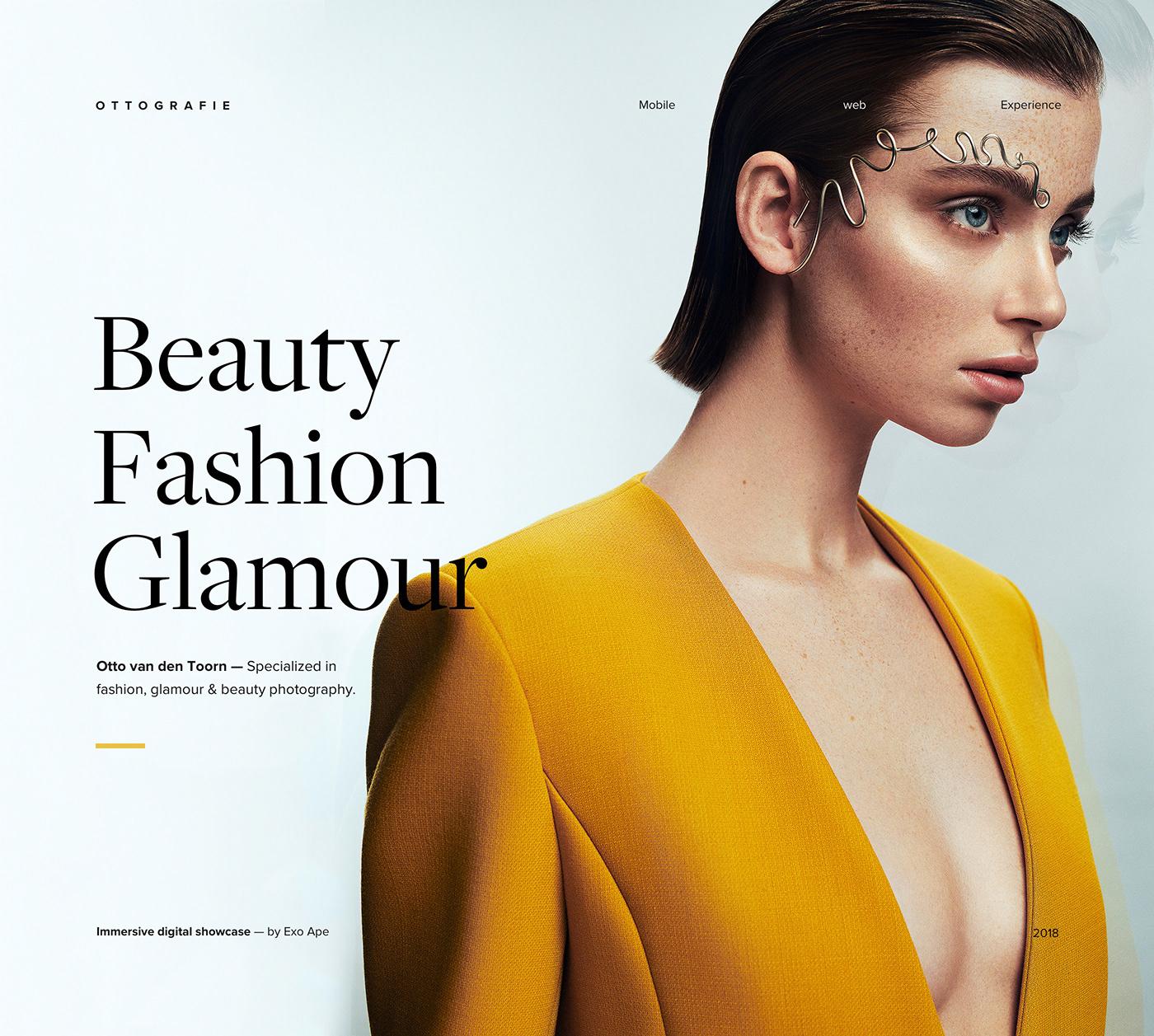Beautiful fashion website header