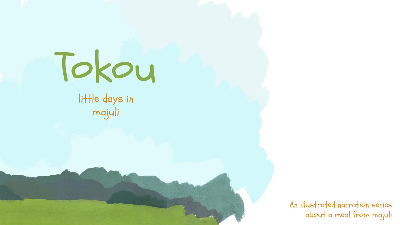 Food  illustration book Majuli storybook