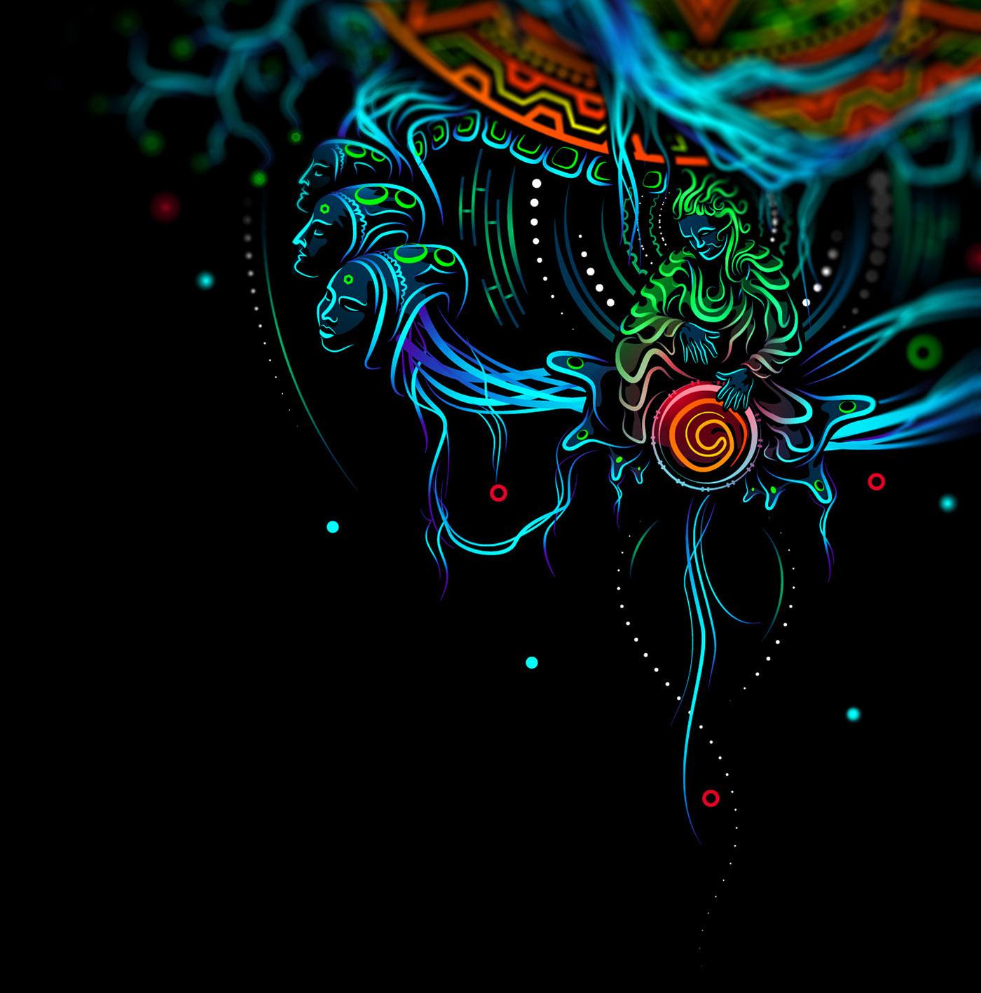 hard festival rebranding psychdelic wear festival art design feshion