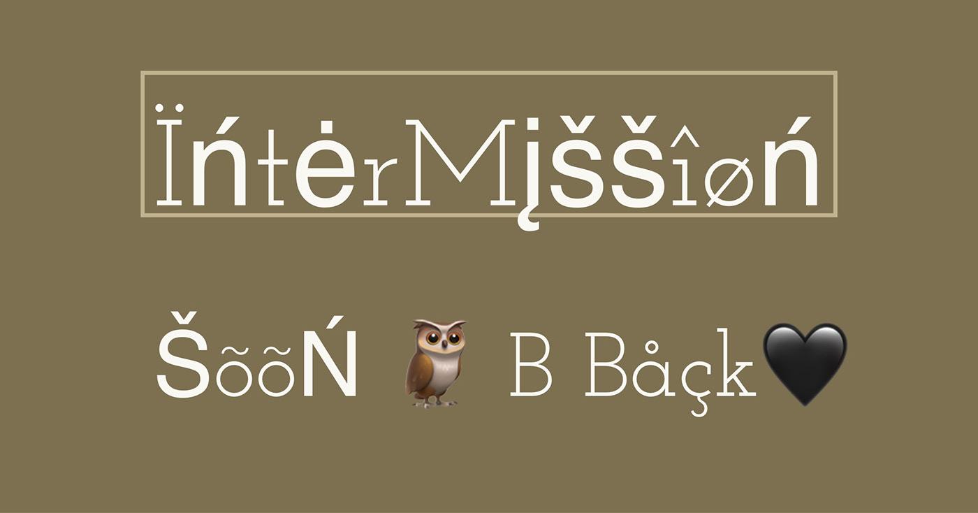 asci graffiti back digital graffiti GrafFont Intermission owl soon