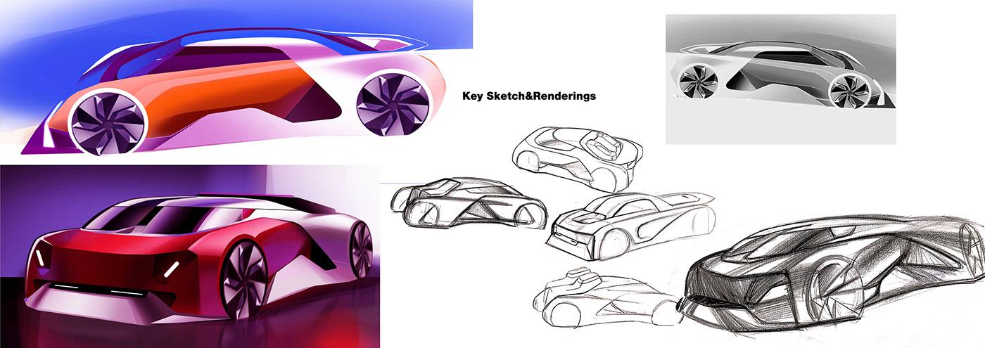 Automotive design car design cardesign degree show industrial design  sketch Thesis Project transport design