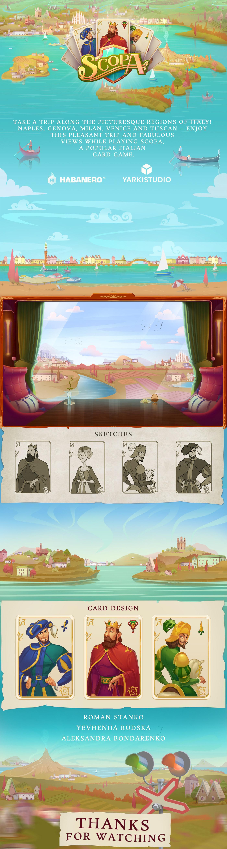 slot games cartoon style digital artwork atmospheric art characters Travel interface design Landscape mobile games