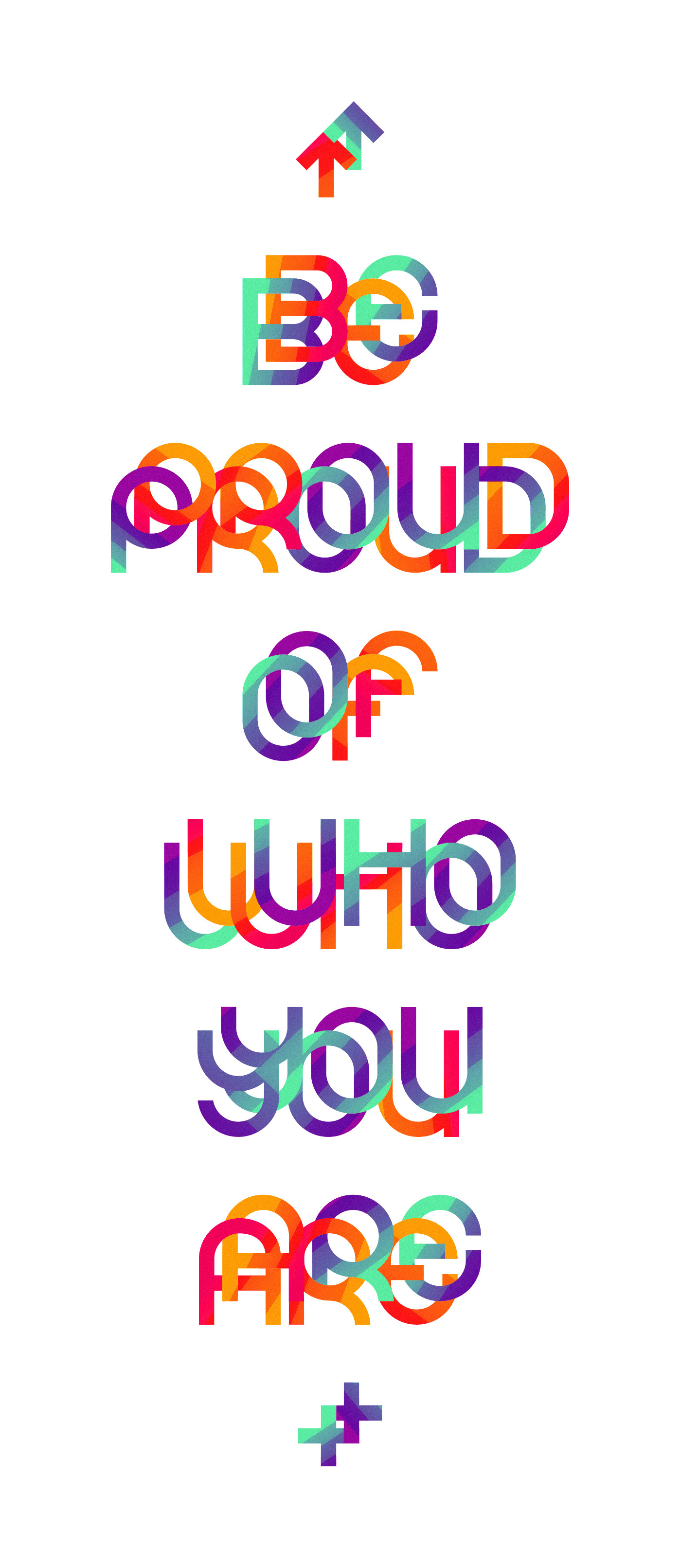 pride font type colorful yourself proud Positive dignity community movement