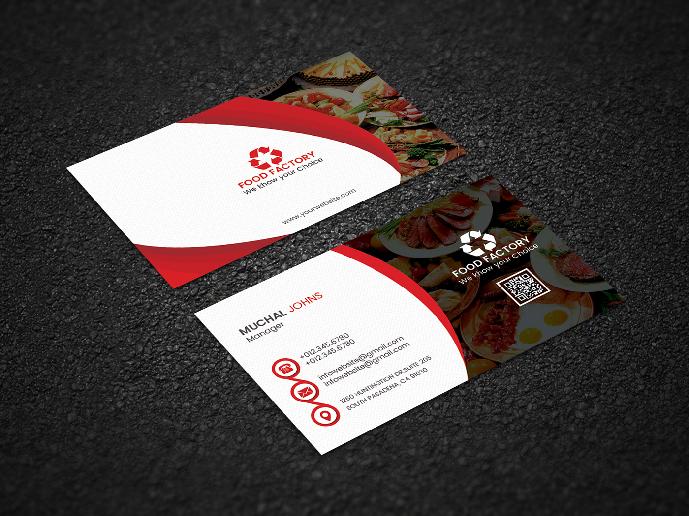 Restaurant brand identity design free download on behance business card reheart Images
