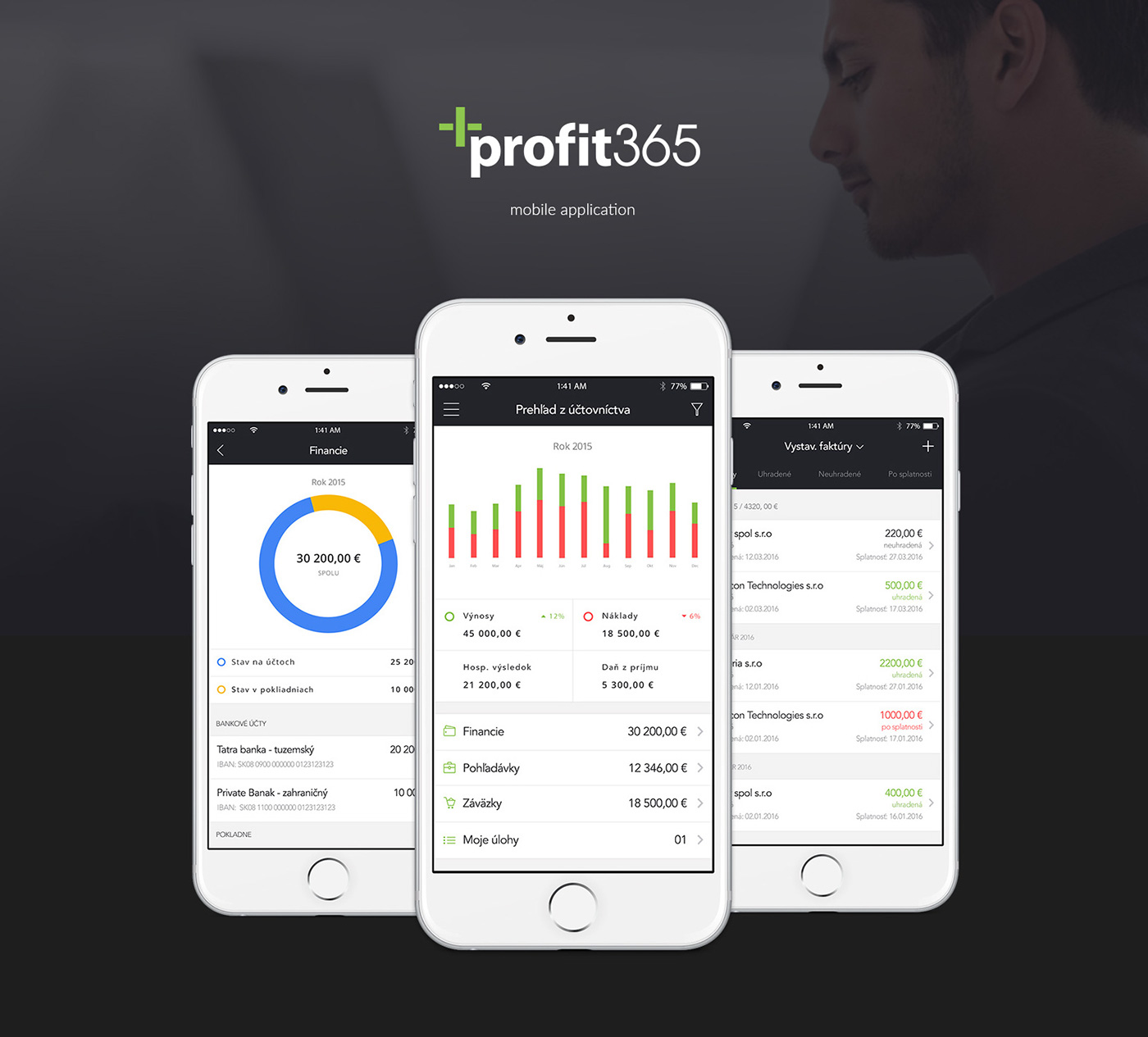 accounting profit365 ios invoices receipts
