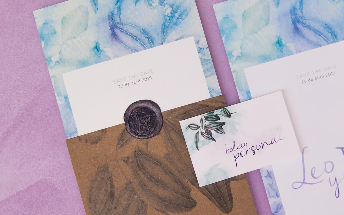 wedding,watercolor,print,papergoods  ,printdesign,Invitation,organic,mexico,jashomx