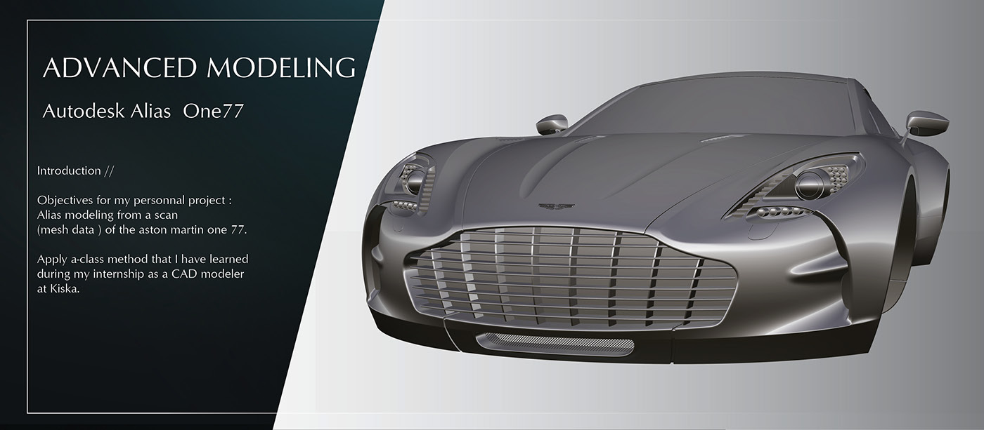 aston martin one 77 - advanced modeling // on behance