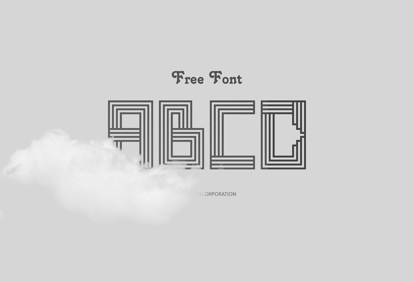 Line Art Font : Line art font quot free license on behance