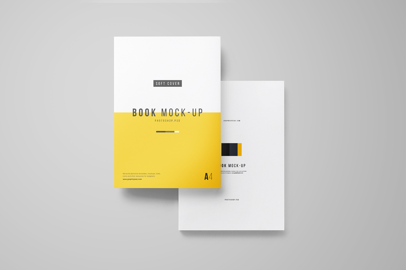 a4 book mockup free psd on behance