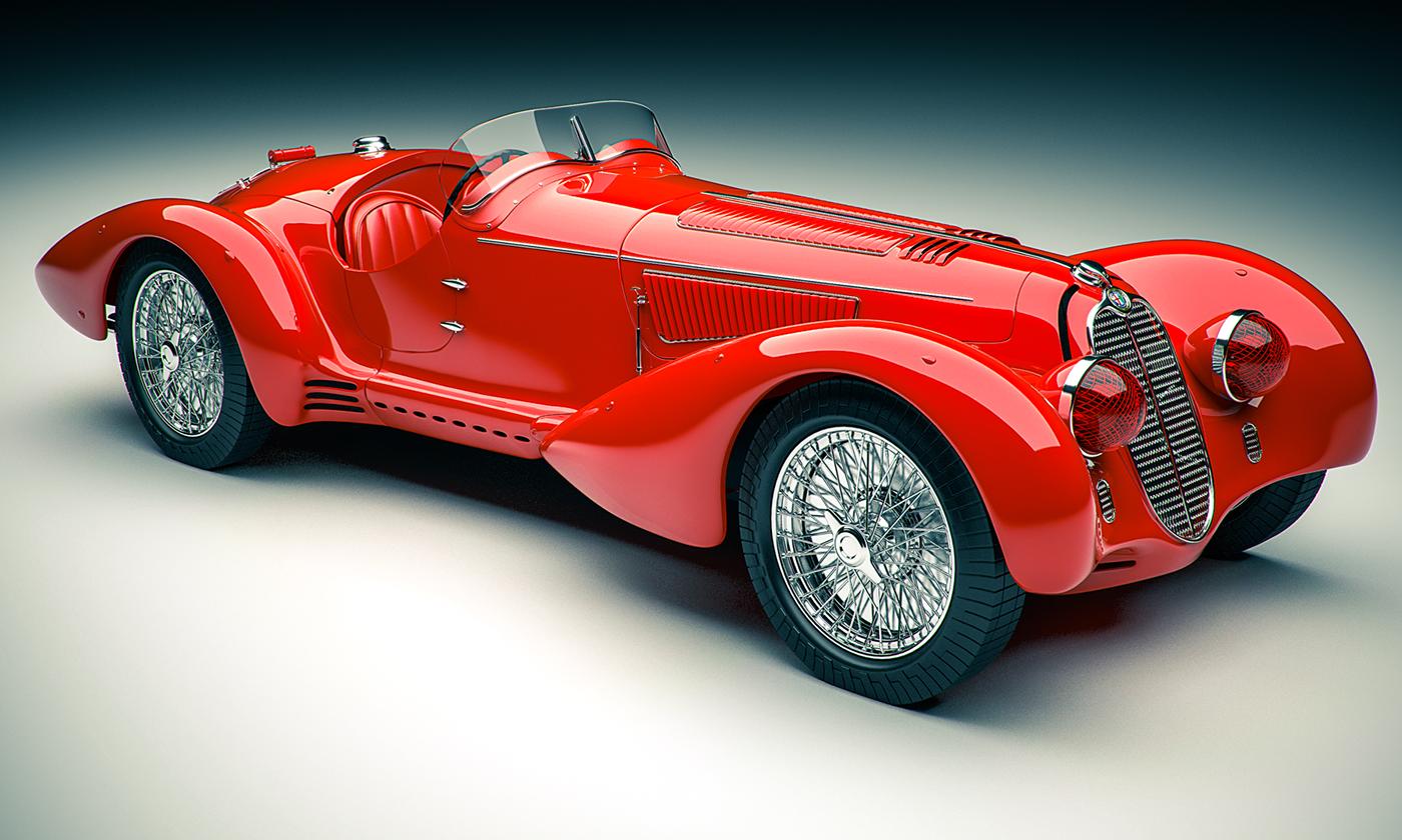 Alfa Romeo 8C >> 1938 Alfa Romeo 8C 2900 Mille Miglia on Behance
