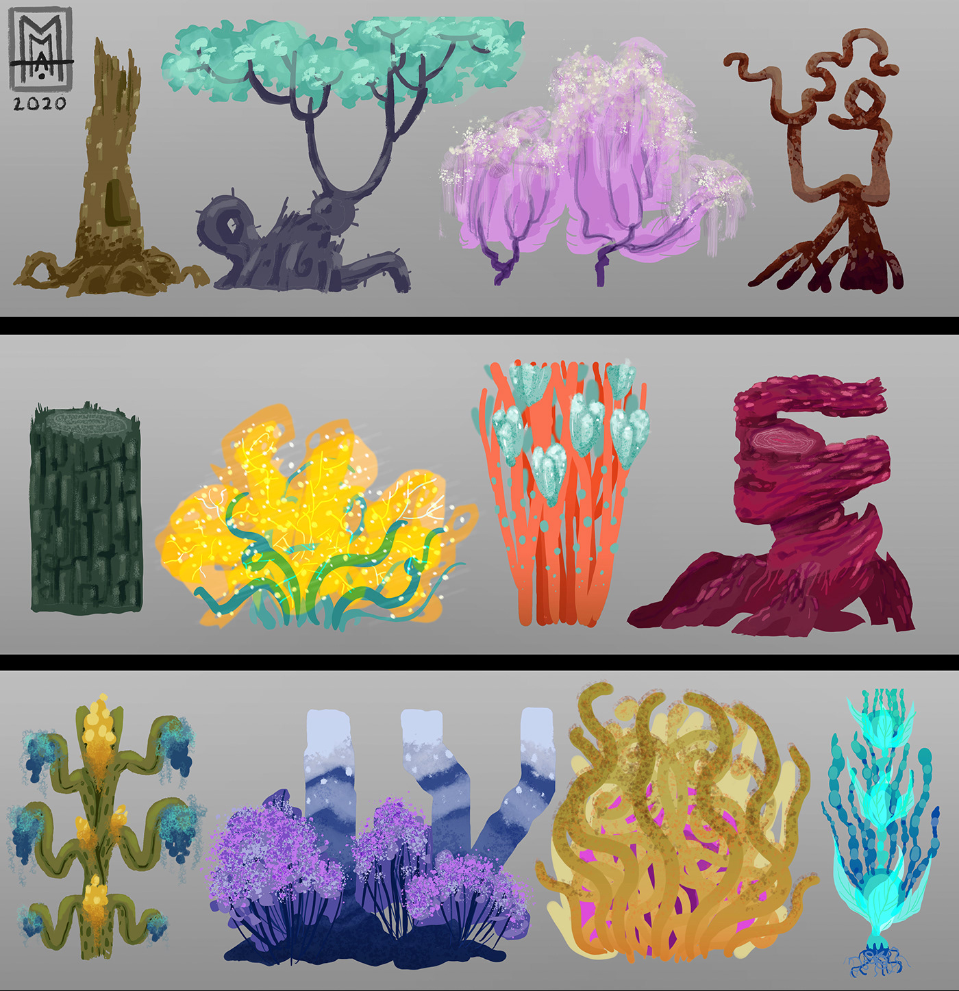 assets trees Visual Development World Building