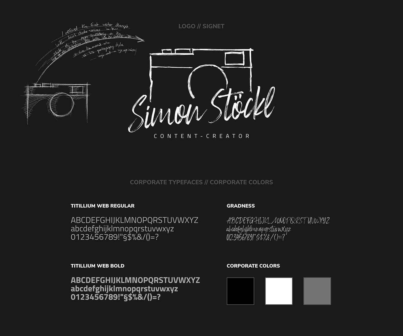 SIMON STÖCKL // Logo + Typefaces