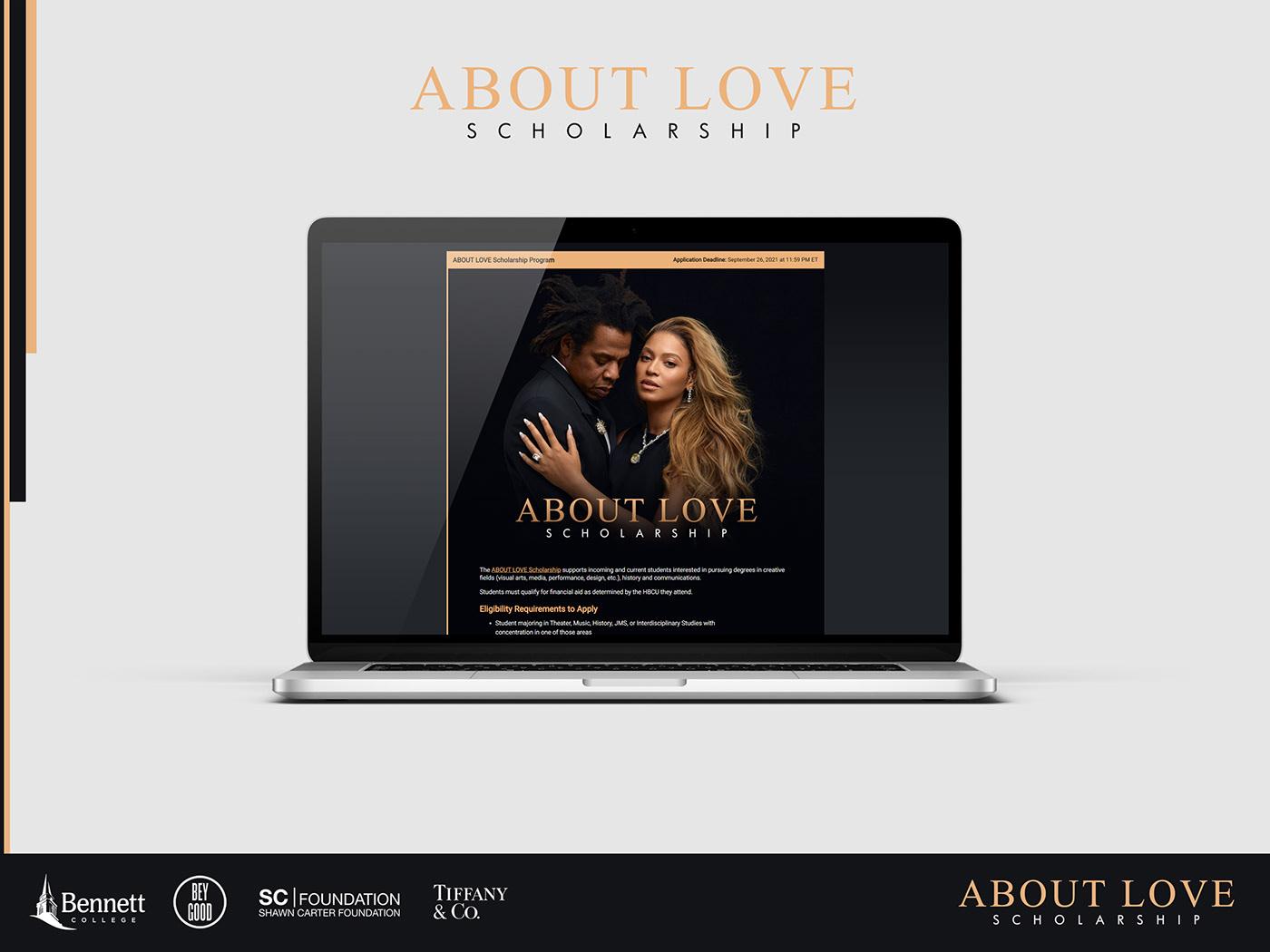 Beyonce jay-z Logo Design Mockup photoshop scholarship Tiffany & Co. hip hop landing page Web Design