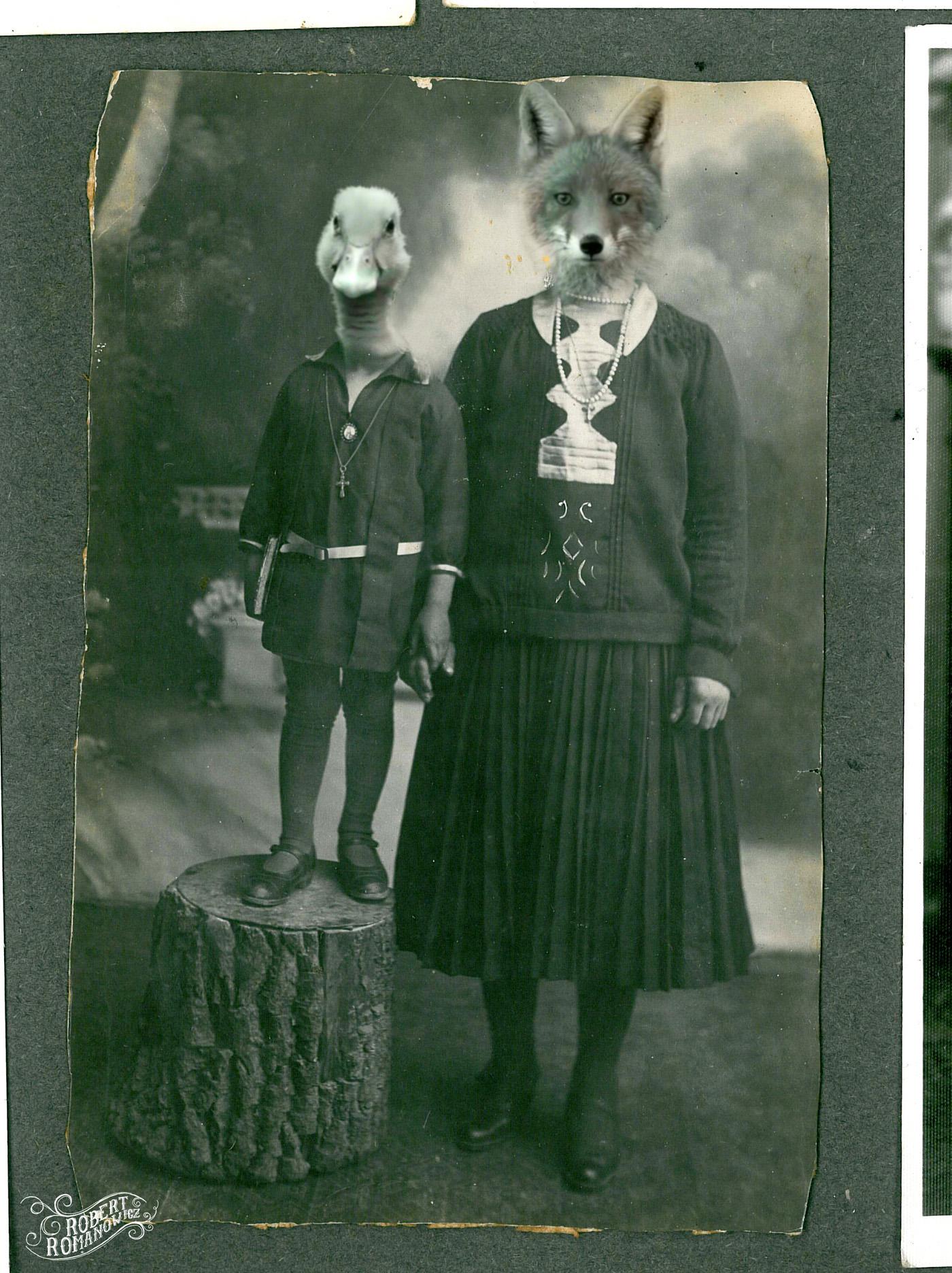 Fotografii vechi modificate într-un mod umoristic de Robert Romanowicz
