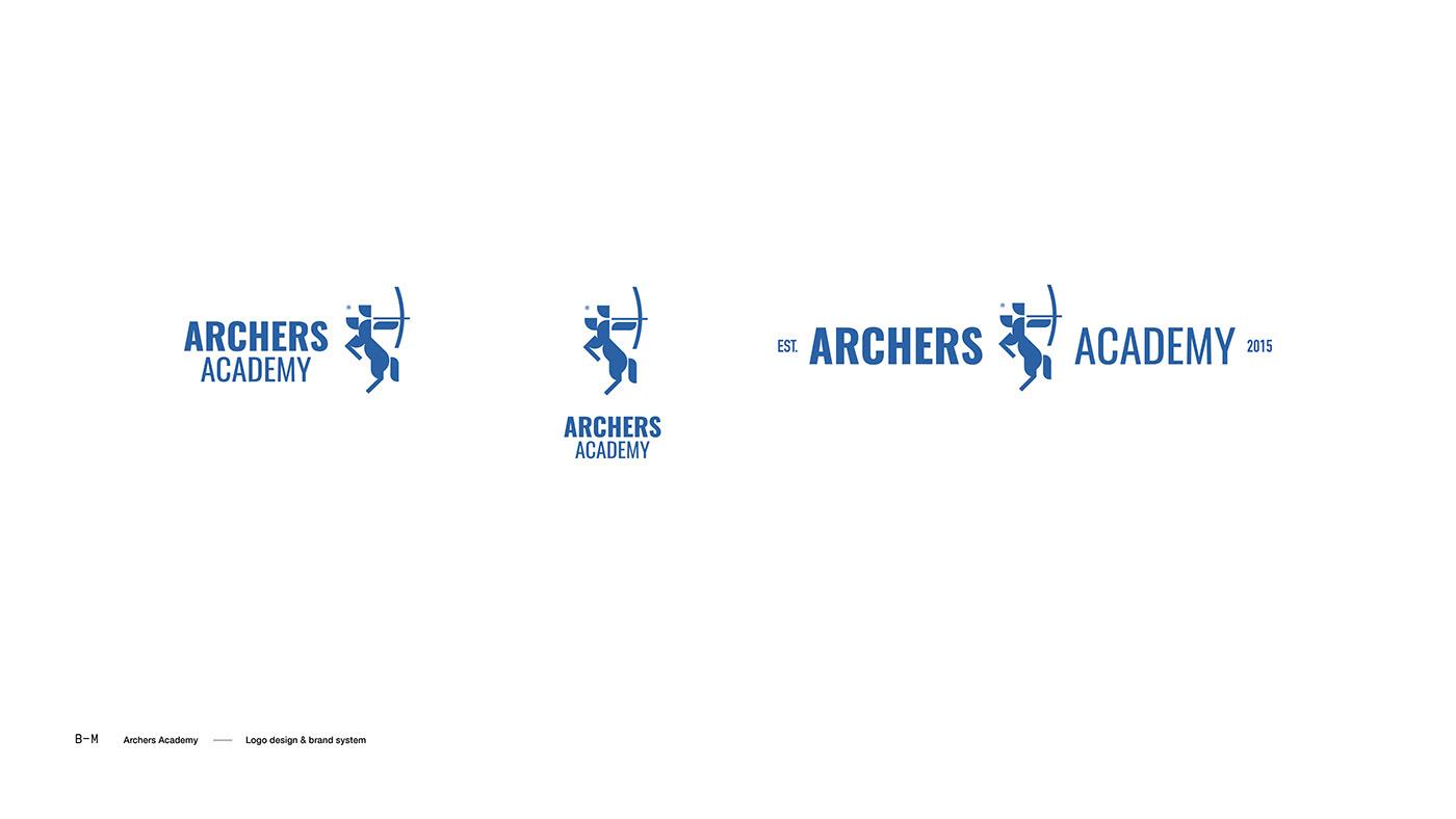 Archery archers brand branding  logo Stationery stationary identity logodesign
