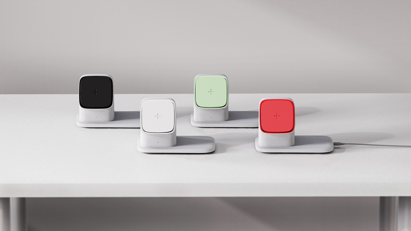 apple charger industrial design  product smartphone wirelesscharger designerdot portfolio COVid 제품디자인
