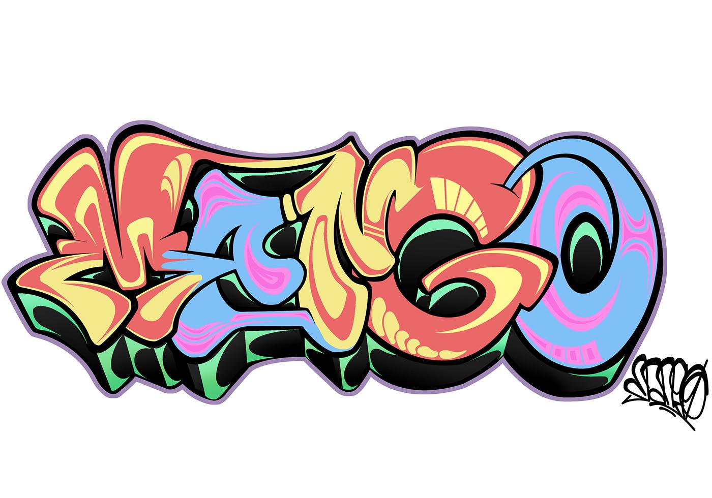 Картинка граффити на белом фоне