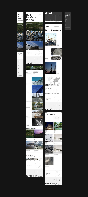 architecture Brutalist font minimal minimalist typo typographic typography   UI/UX Website