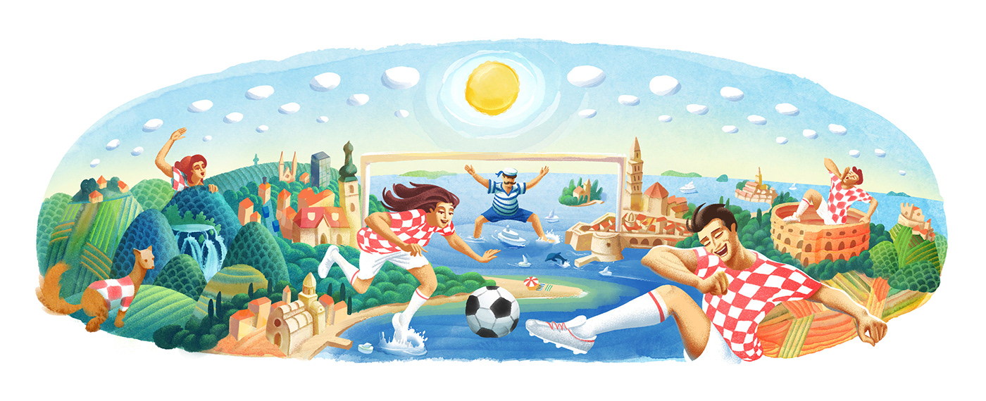 Google Doodle World Cup 2018 Croatia On Behance