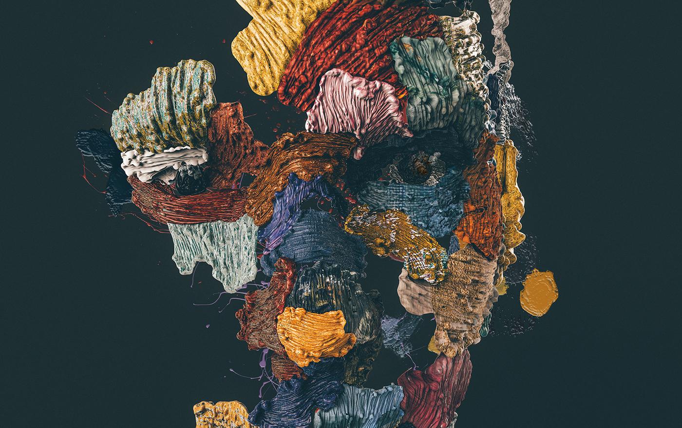nastplas oil colors stroke 3D art creative paint artwork masterpiece