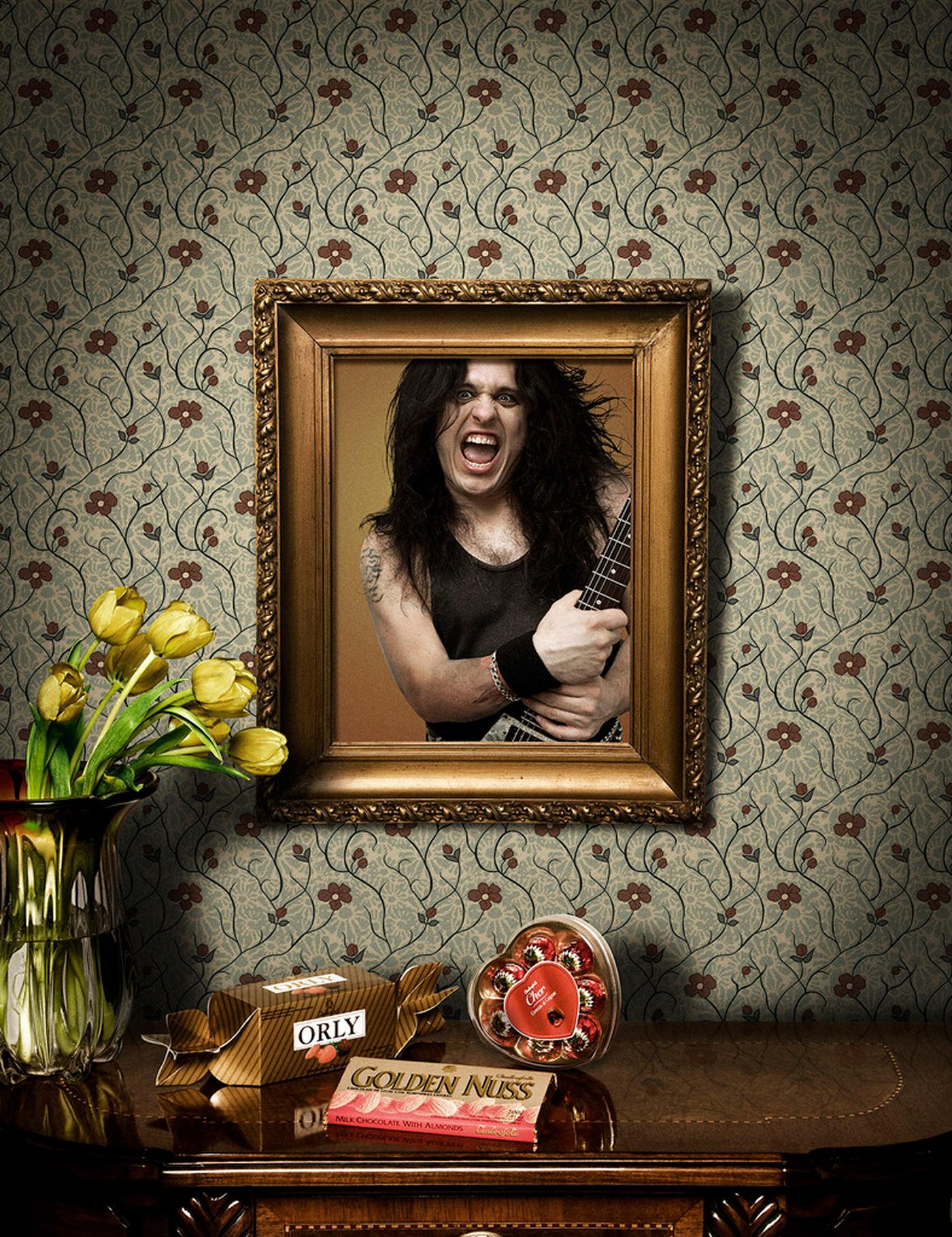 chocolate dia de la madre ilustracion orly photoshop rock Rocker