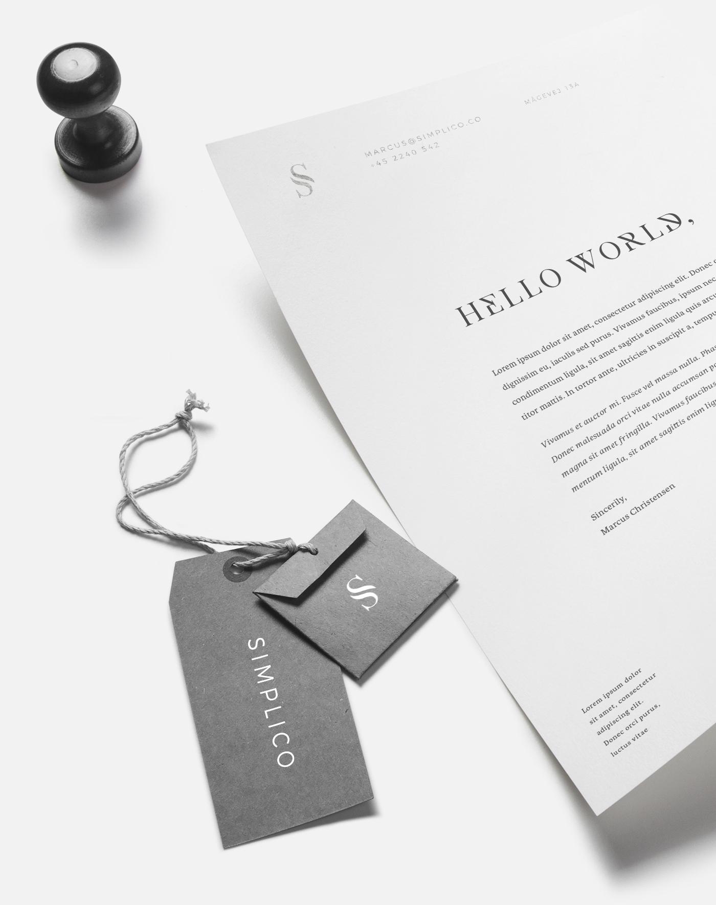 elegant webagency foil silver serif branding  Calligraphy   simplico shiny luxery