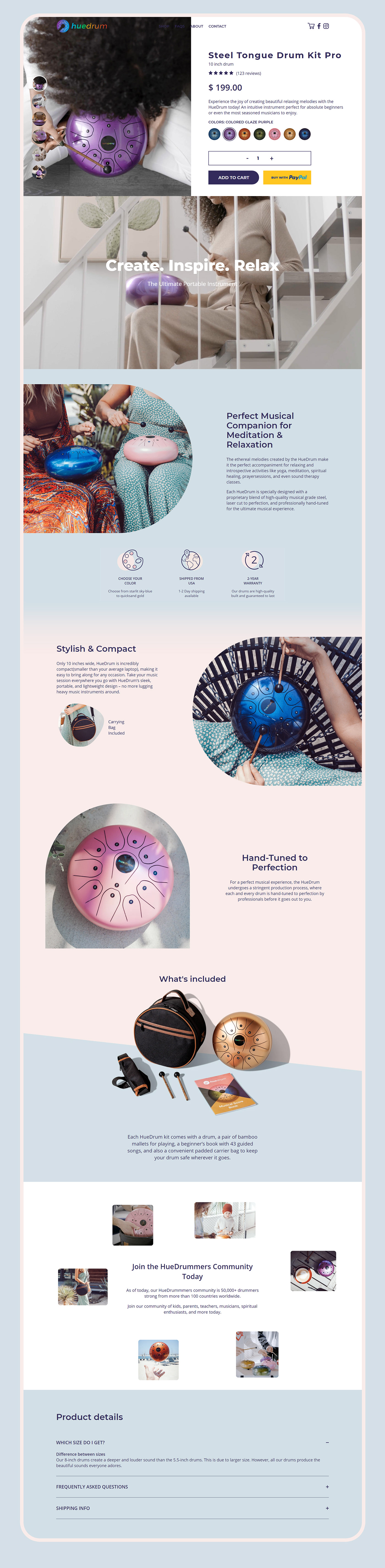 content Ecommerce kids Photography  Shopify smm content Steel Drum