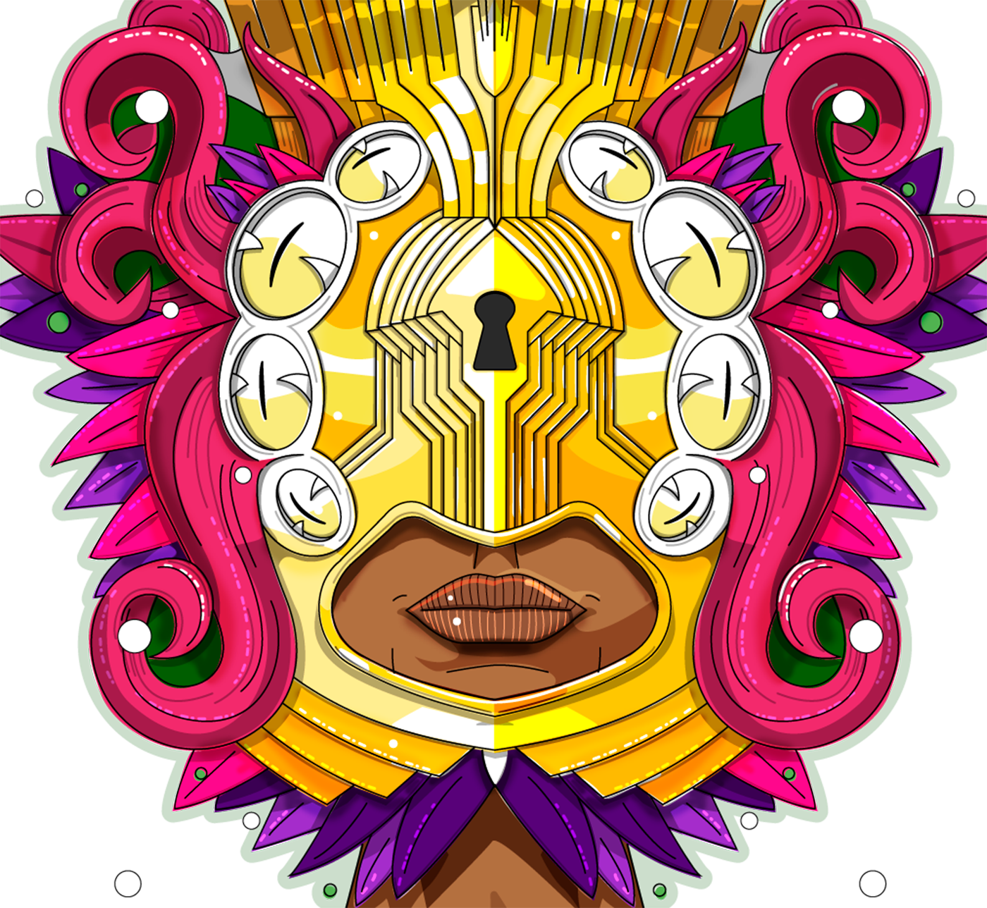 ILLUSTRATION  mask art