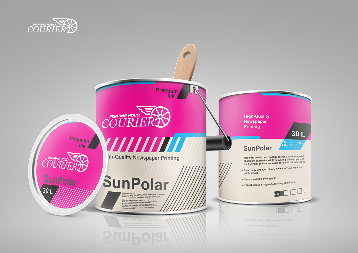 brand identity . packaging for Printing House on Behance