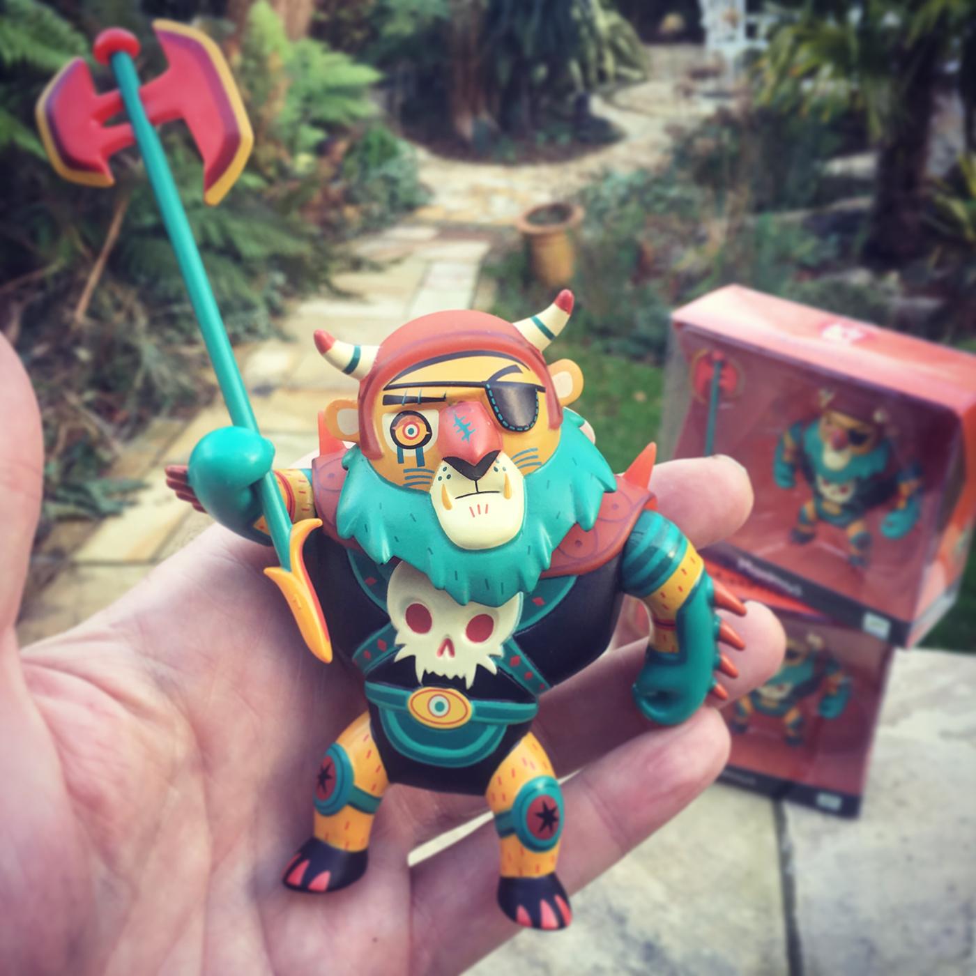 toy design illustrated figurine lion warrior For Kids best Action Figure Weapon
