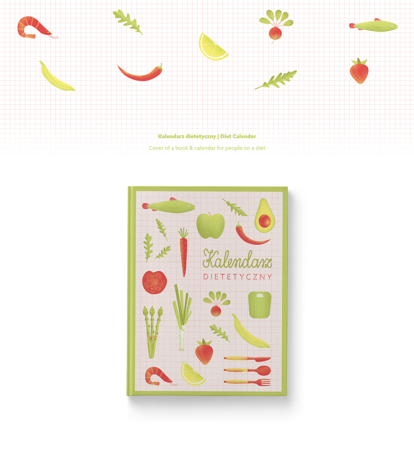 diet calendar on behance