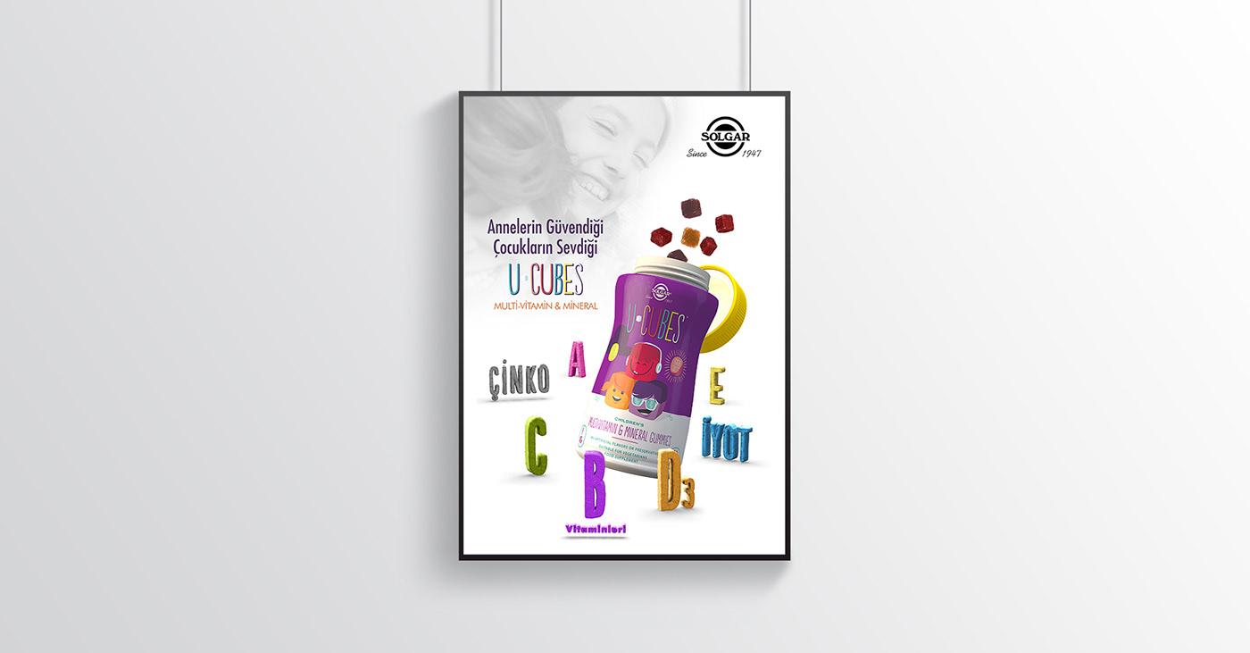 Solgar ucubes vitamin mineral Keyvisual tvc Advertising