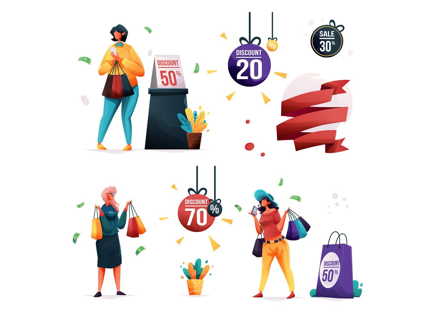 Character freebie ILLUSTRATION  Illustrator sales sales illustration vector vector design vector download Vector Illustration