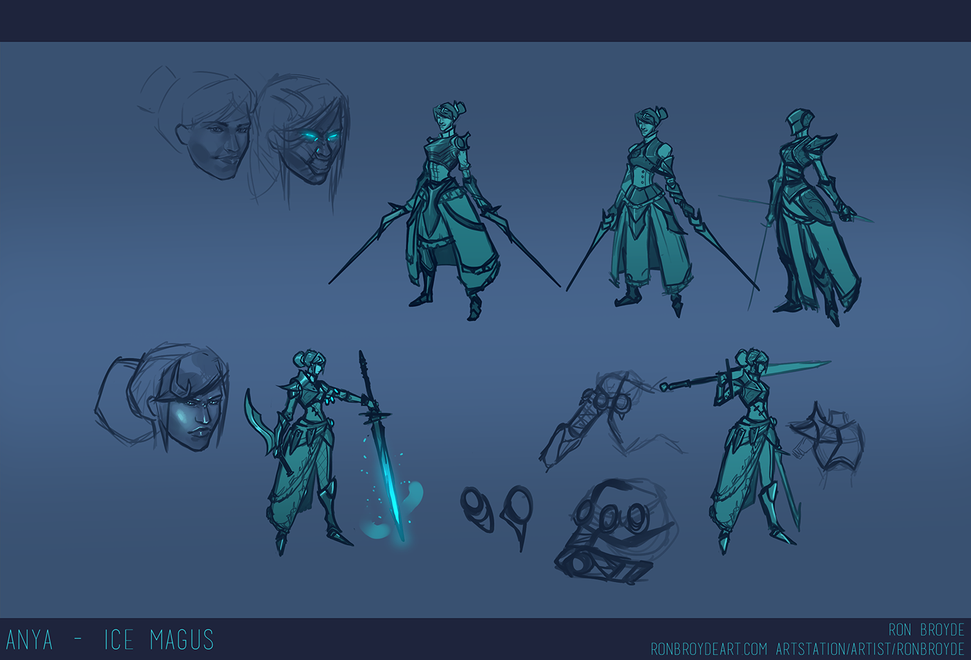 concept art character concept fantasy art Dungeons and Dragons pathfinder Magus ice magus