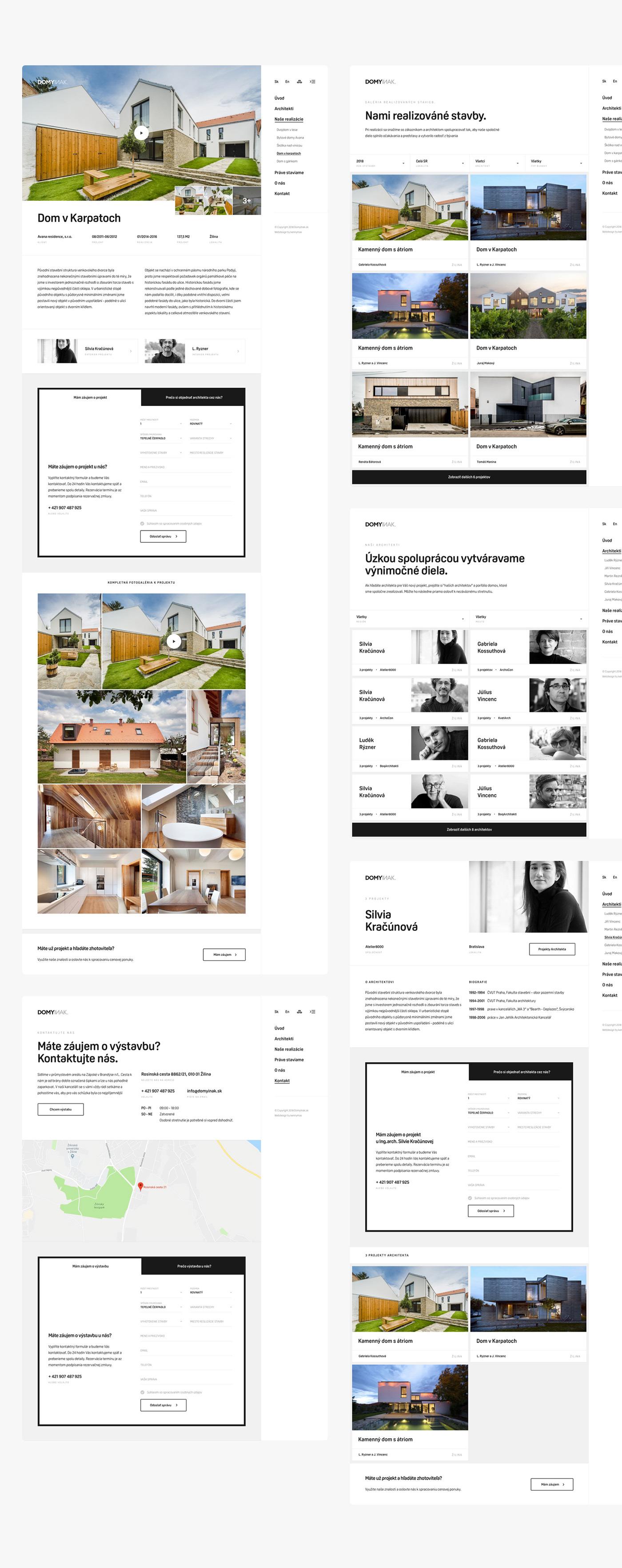 Web Webdesign landing animation  homepage user interface Slovak design house home