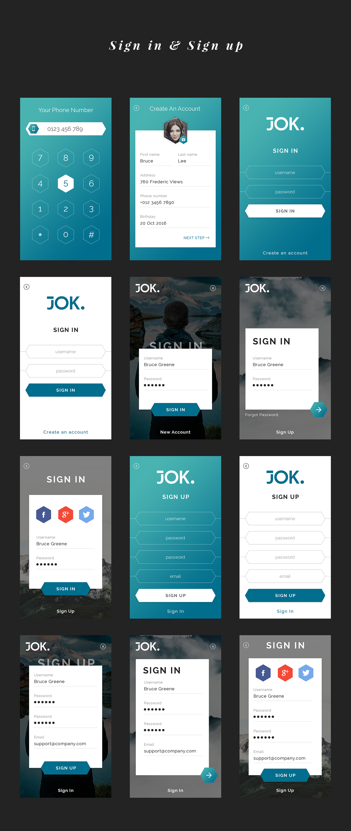 Jok Mobile UI Kit - 2